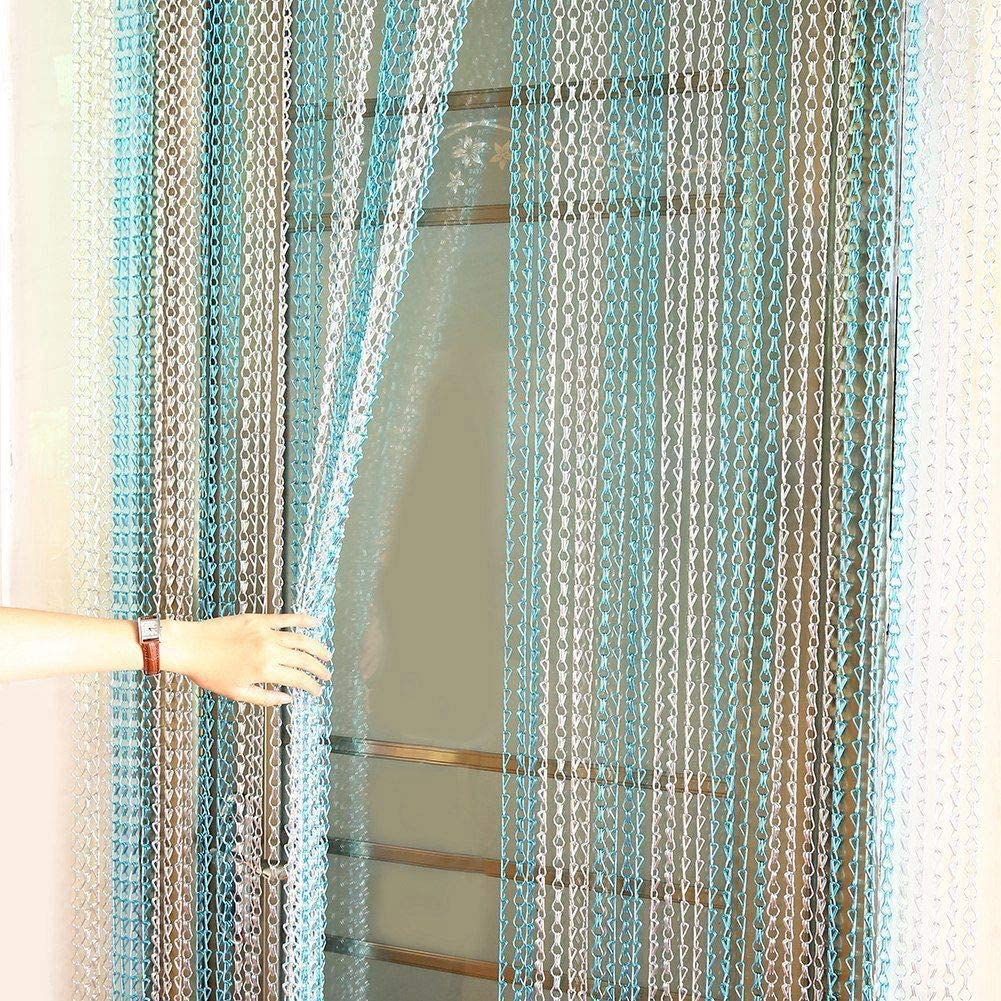 SZIVYSHI scheggia Catena in Alluminio Tenda Metal Screen Fly Insect Pest Control Tende Colore: Argento Dimensioni: 90//214 10 Anni di Garanzia