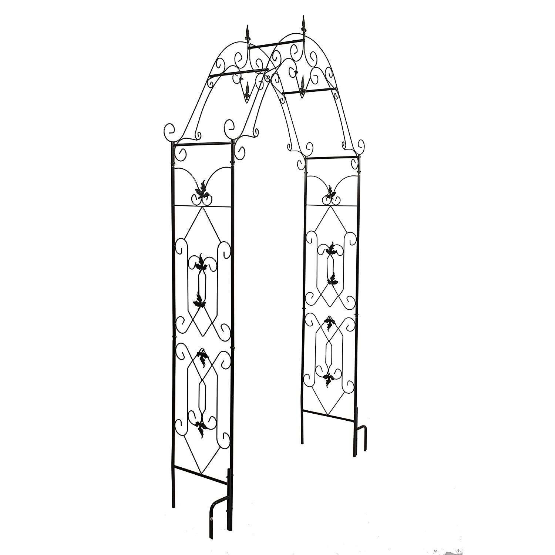 """Better Garden Steel Garden Arch, 8'1"""" High x 4'2"""" Wide, Garden Arbor for Various Climbing Plant, Outdoor Garden Lawn Backyard"""