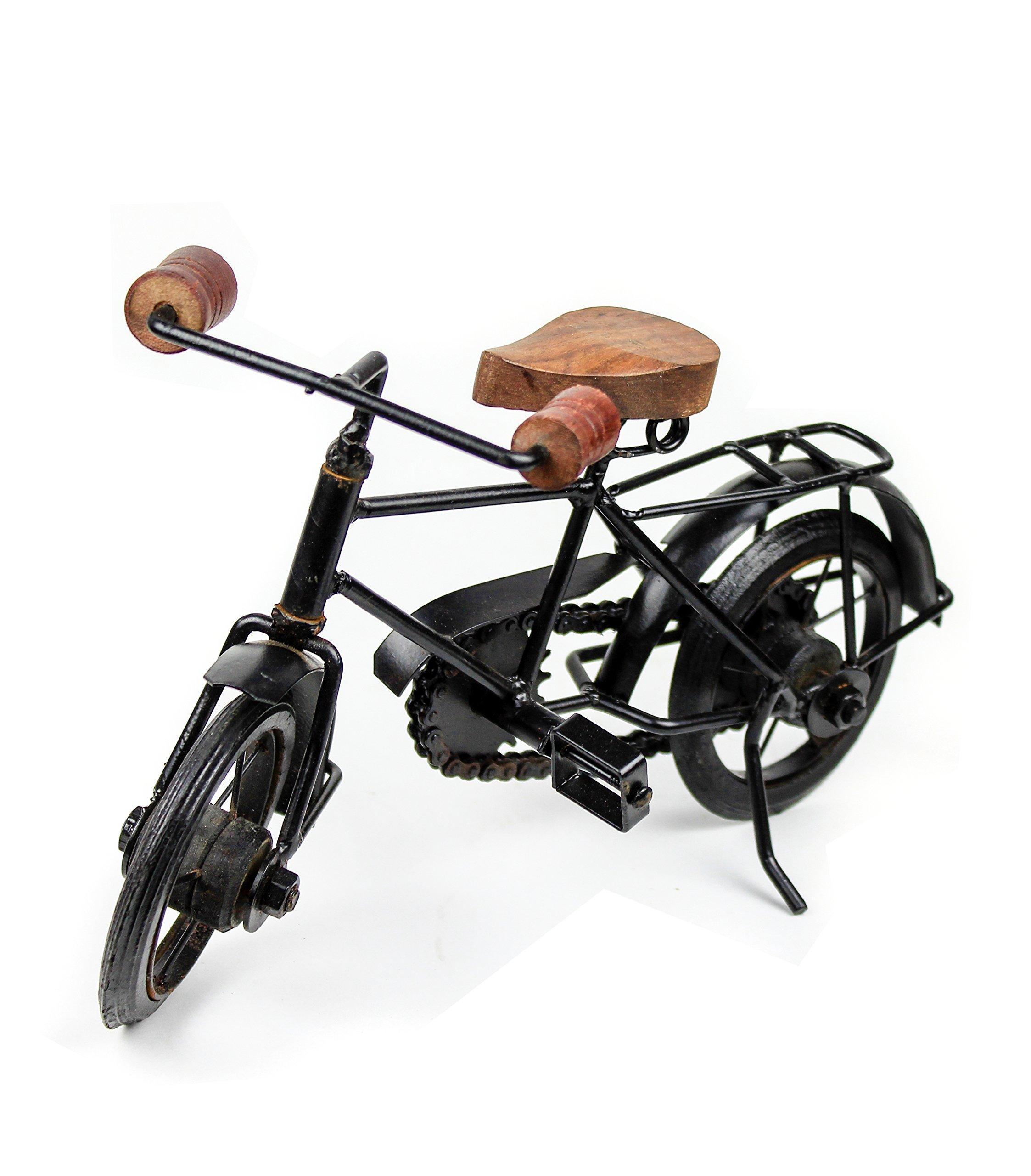 Nagina International Home Decor Iron Metal Crafted Beautiful Finger Bike   Table Decor Gifts Vehicle   Games Toy Cycle (Postman) by Nagina International (Image #2)