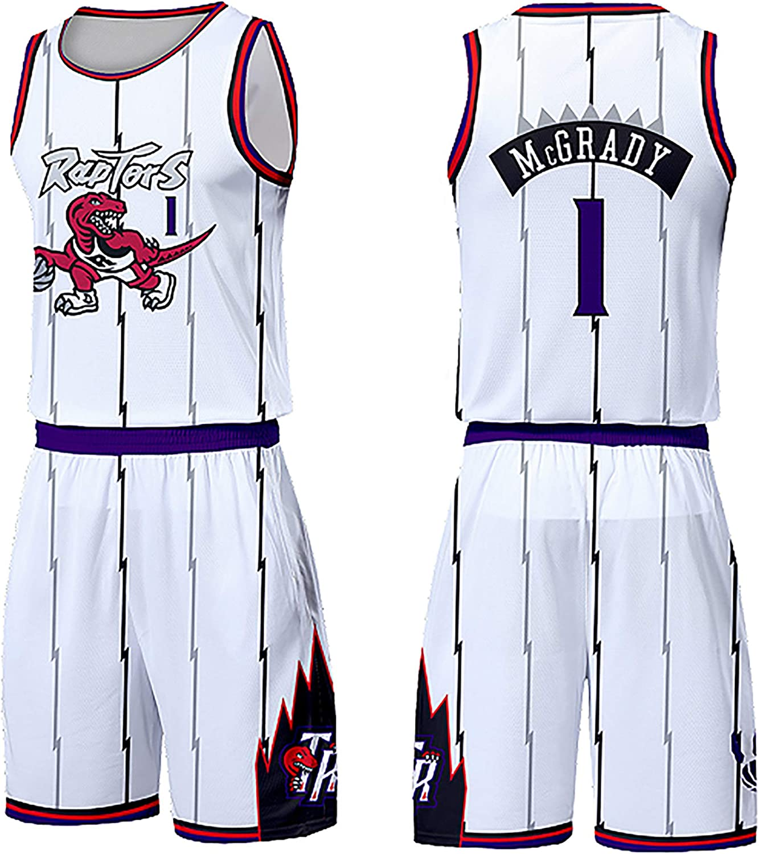 Raptors Basketball Shirt Weste Top Sommer Sets Magic Swingman kann wiederholt gewaschen Werden echtes Trikot McGrady 1Number Wettkampftraining Sport