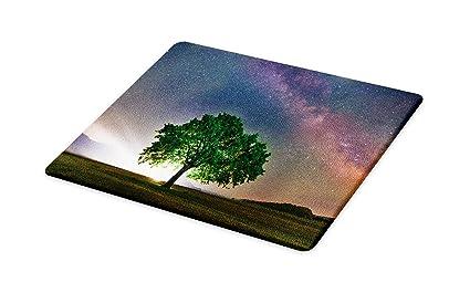d808eb74a5273 Amazon.com: Lunarable Tree Cutting Board, Tree Under Milky Way ...