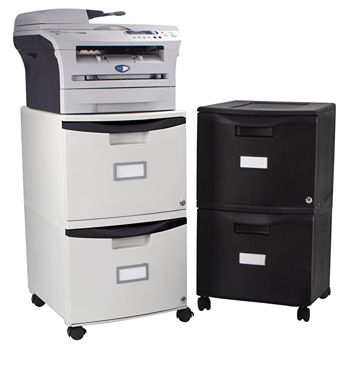 Amazon.com : Storex 2-Drawer Mobile File Cabinet with Lock, Legal/Letter, 18.25 x 14.75 x 26 Inches, Gray with Black Trim (61307B01C) : Office Products