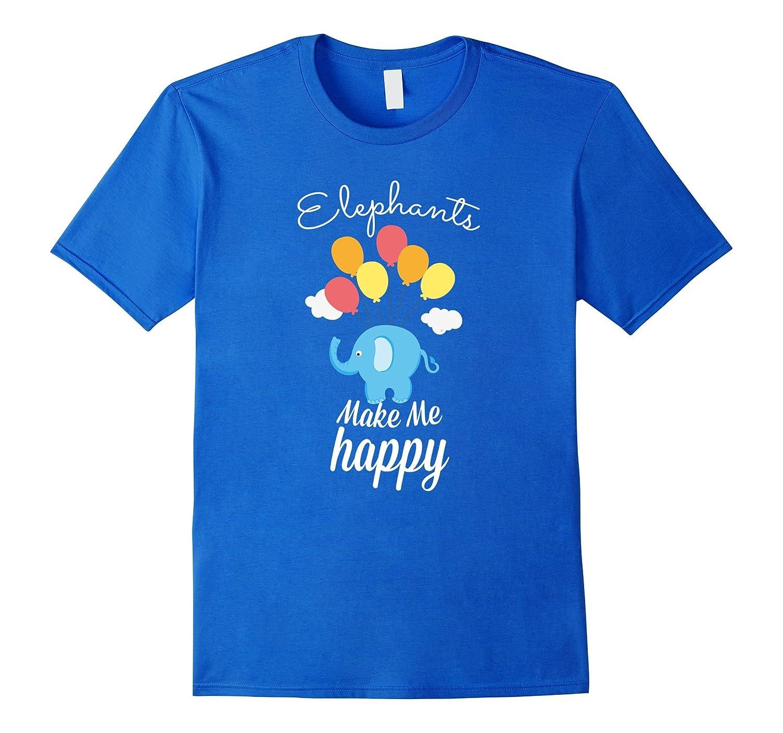 Cute Elephant Lover Tees - Make Me Happy T-Shirt-AZP