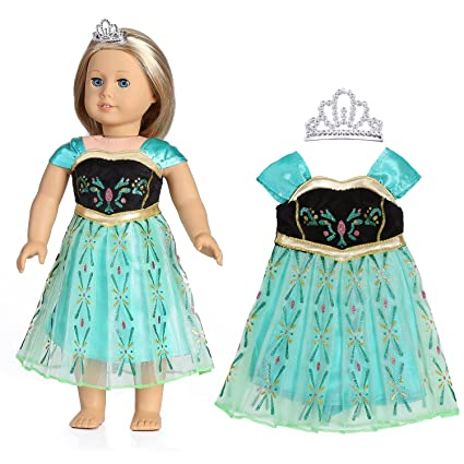 85b32e6ef8ac Amazon.com  18 Inch Doll Clothes(Colorful Print Evening Dress with ...