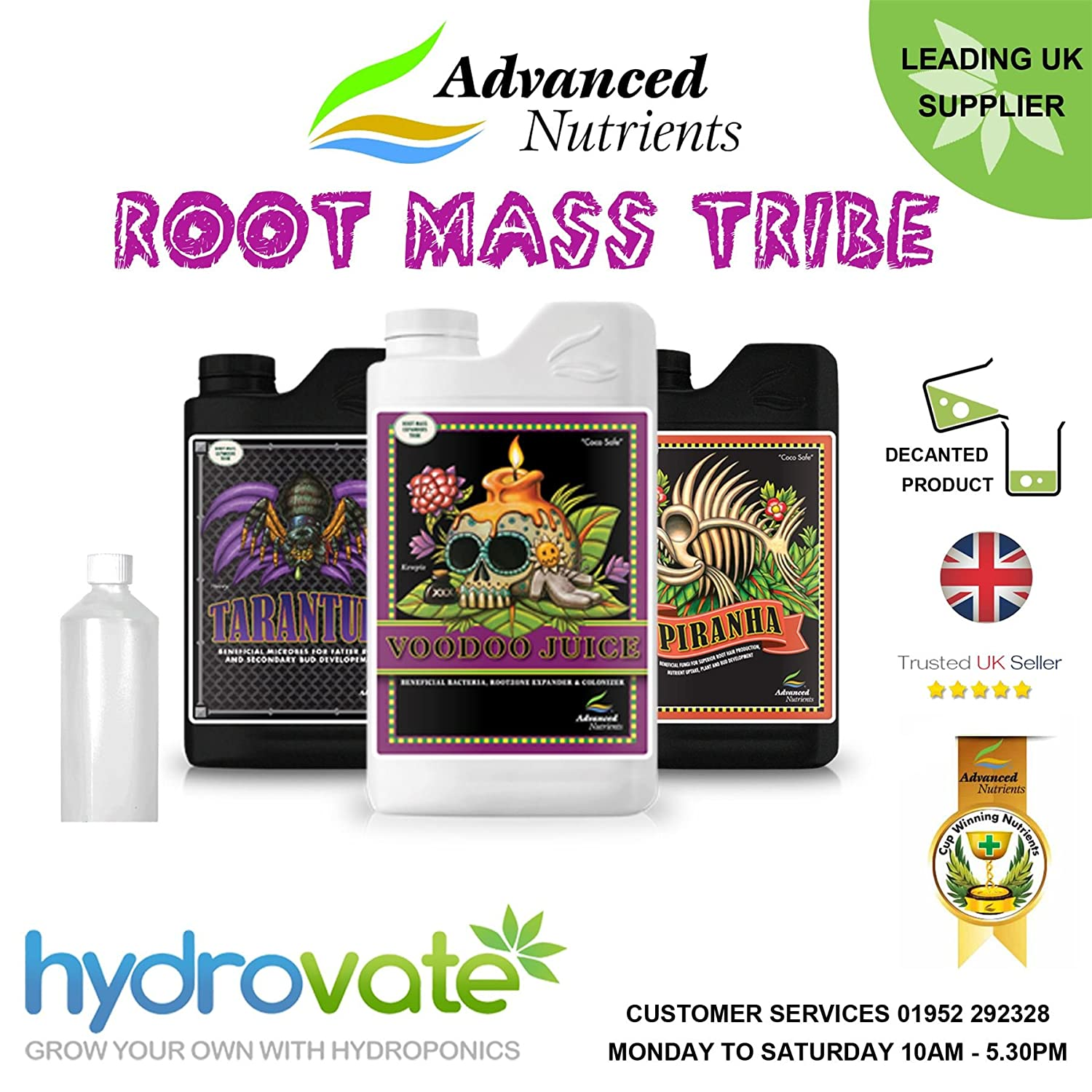 Root Mass Tribe Advanced Nährstoffe 500 ml Piranha Voodoo Juice Tarantel Grow Bloom Grand Master