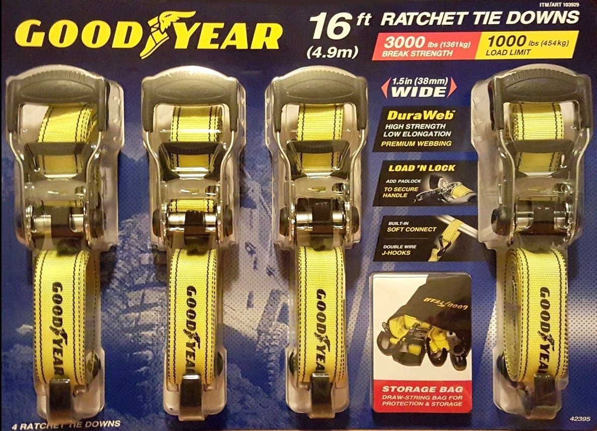 Goodyear Ratchet Tie Down - 4 pk.