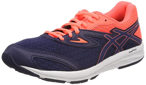 Asics Amplica GS, Chaussures de Running Compétition Mixte Enfant, Noir (Black/Silver/Safety Yellow 9093), 39 EU