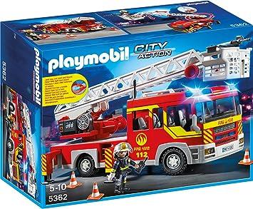 Playmobil 5362 Feuerwehr Leiterfahrzeug Mit Licht Und Sound