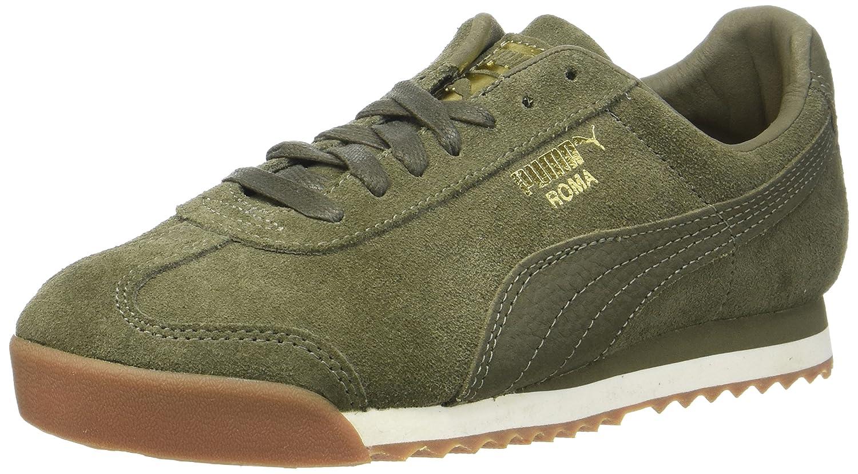 Puma Sneaker Unisex-Erwachsene Roma Natural Warmth Sneaker Puma Grün (Olive Night-whisper Weiß) afd769
