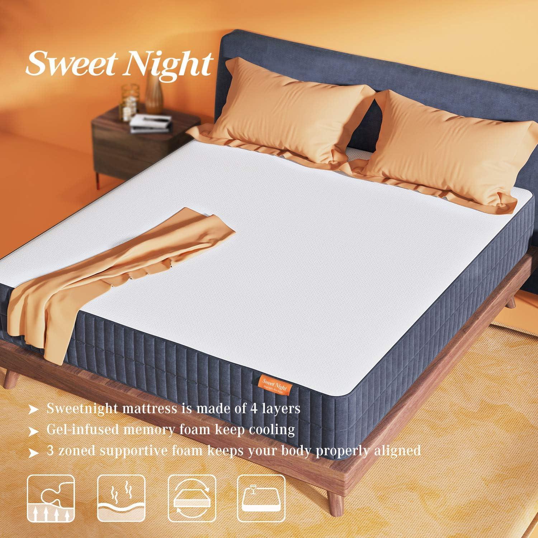 Sweetnight 10 Inch Queen Size Gel Memory Foam Mattress