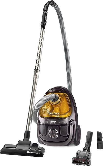 Rowenta MO5396PA Compacteo Ergo Cyclonic - Aspirador sin bolsa, color marrón metalizado y ocre: Amazon.es: Hogar