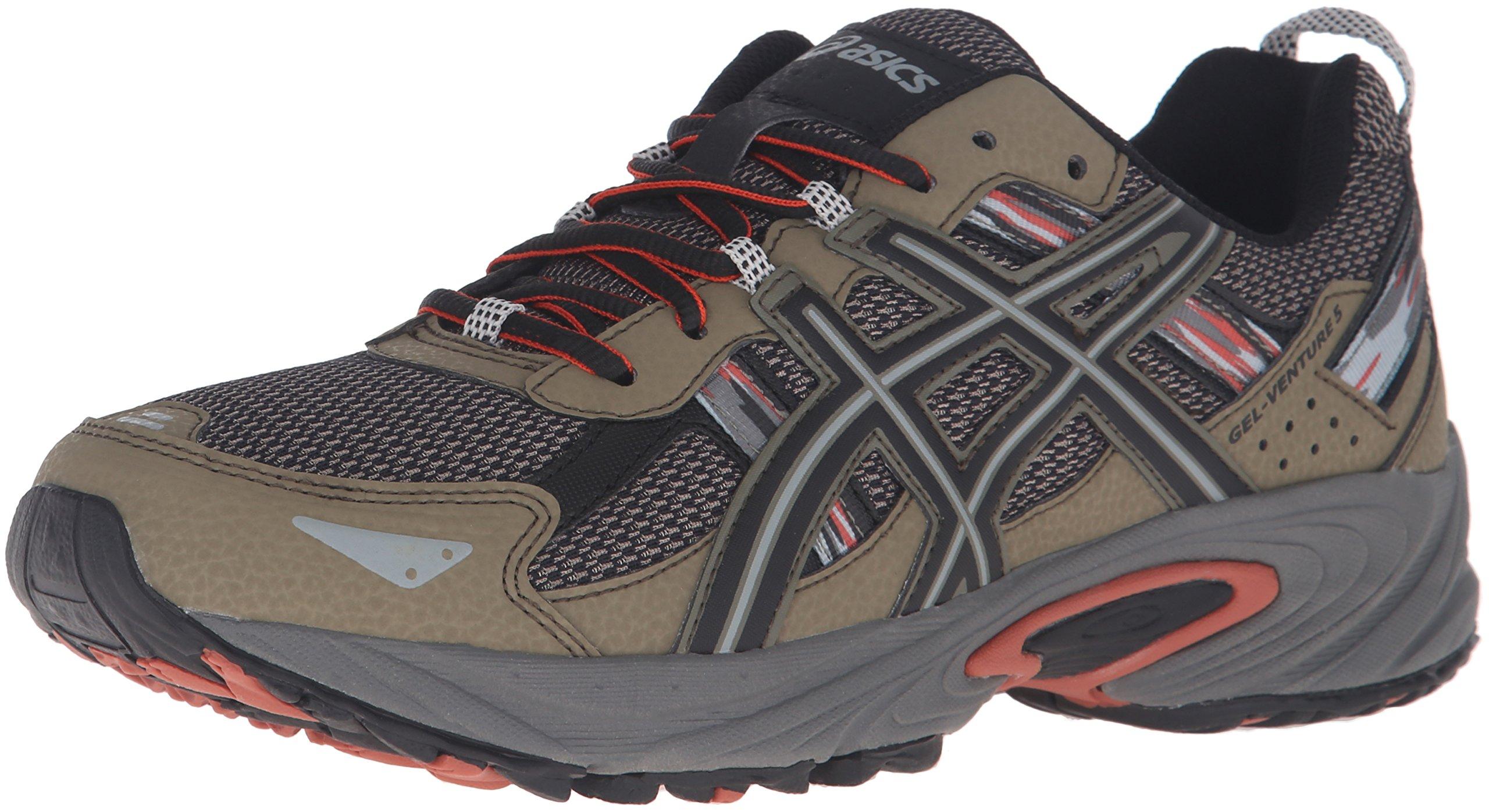 ASICS Men's Gel-Venture 5 Trail Runner, Dusky Green/Black/Cinnamon, 8 M US