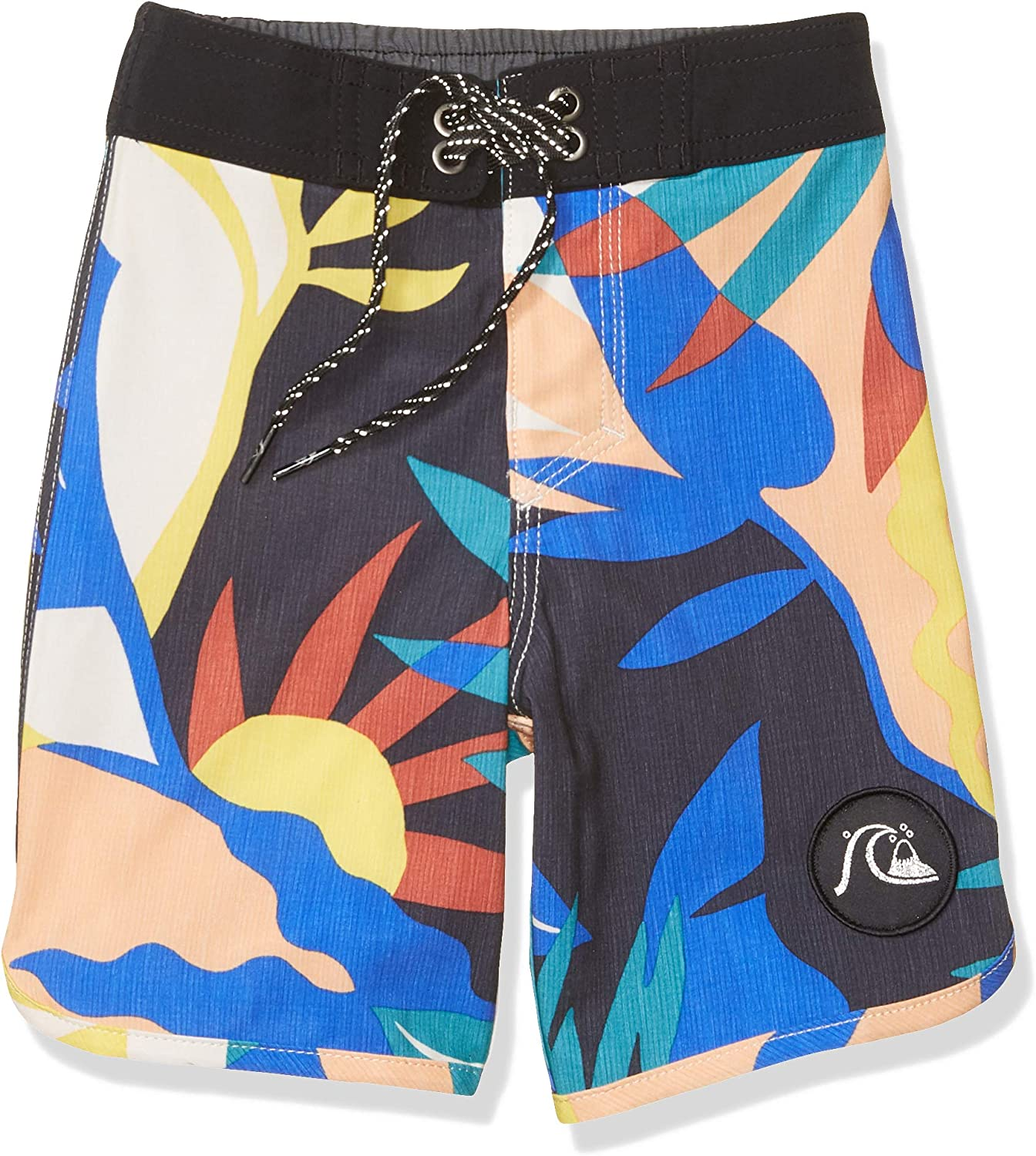Quiksilver Boys Big Highline Tropical Flow Youth 17 Boardshort Swim Trunk