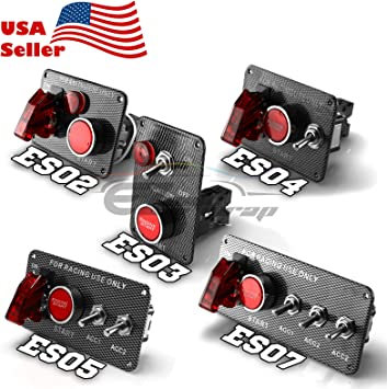 Brand New 12V LED Toggle Ignition Switch Panel Engine Start Push Button Set for Racing Car