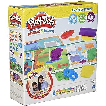 play doh shape and learn shape a story