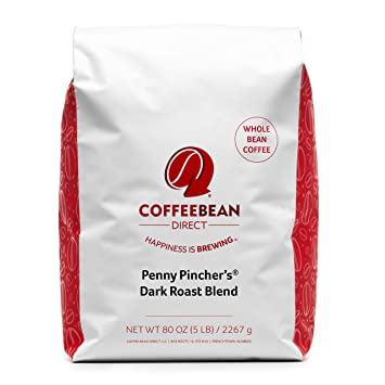 6bc4a67e7f0 Amazon.com : Coffee Bean Direct Penny Pincher's Dark Roast Blend ...