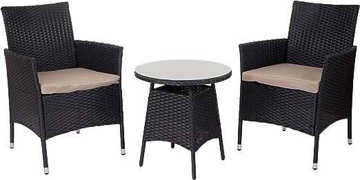 SSITG ratán Balcón Juego de muebles para jardín: Amazon.es: Jardín