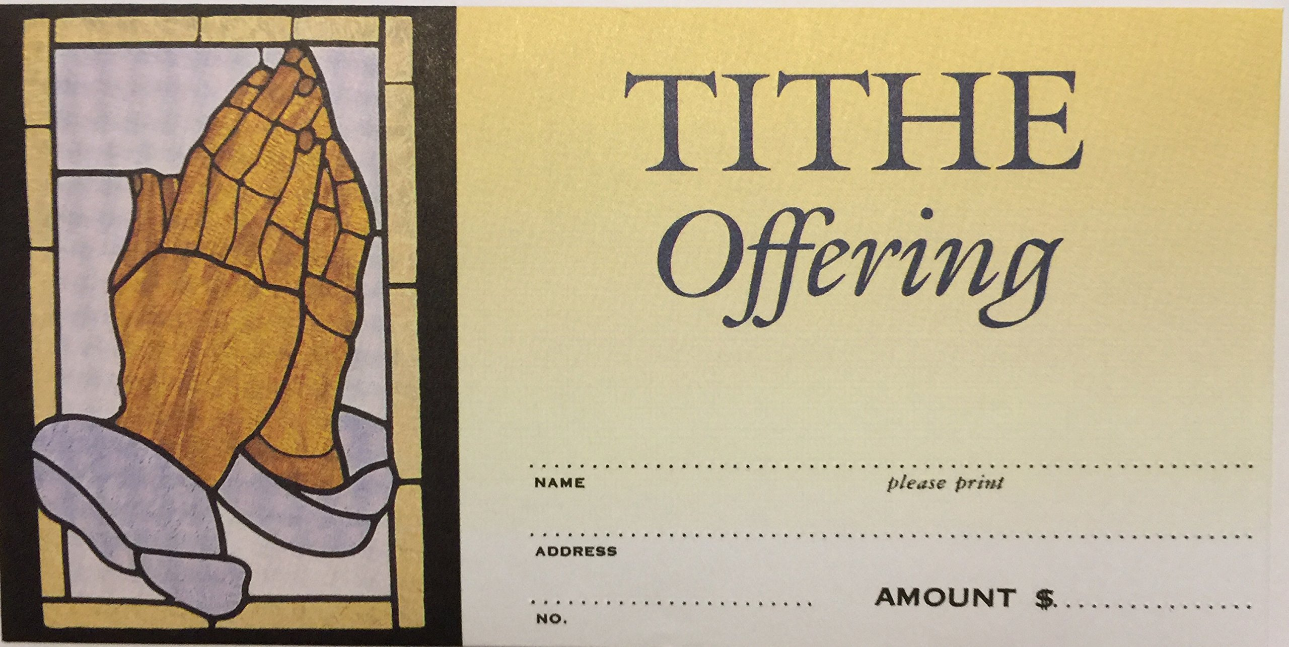 Tithe Offering Envelopes - Praying Hands - (Package of 100)