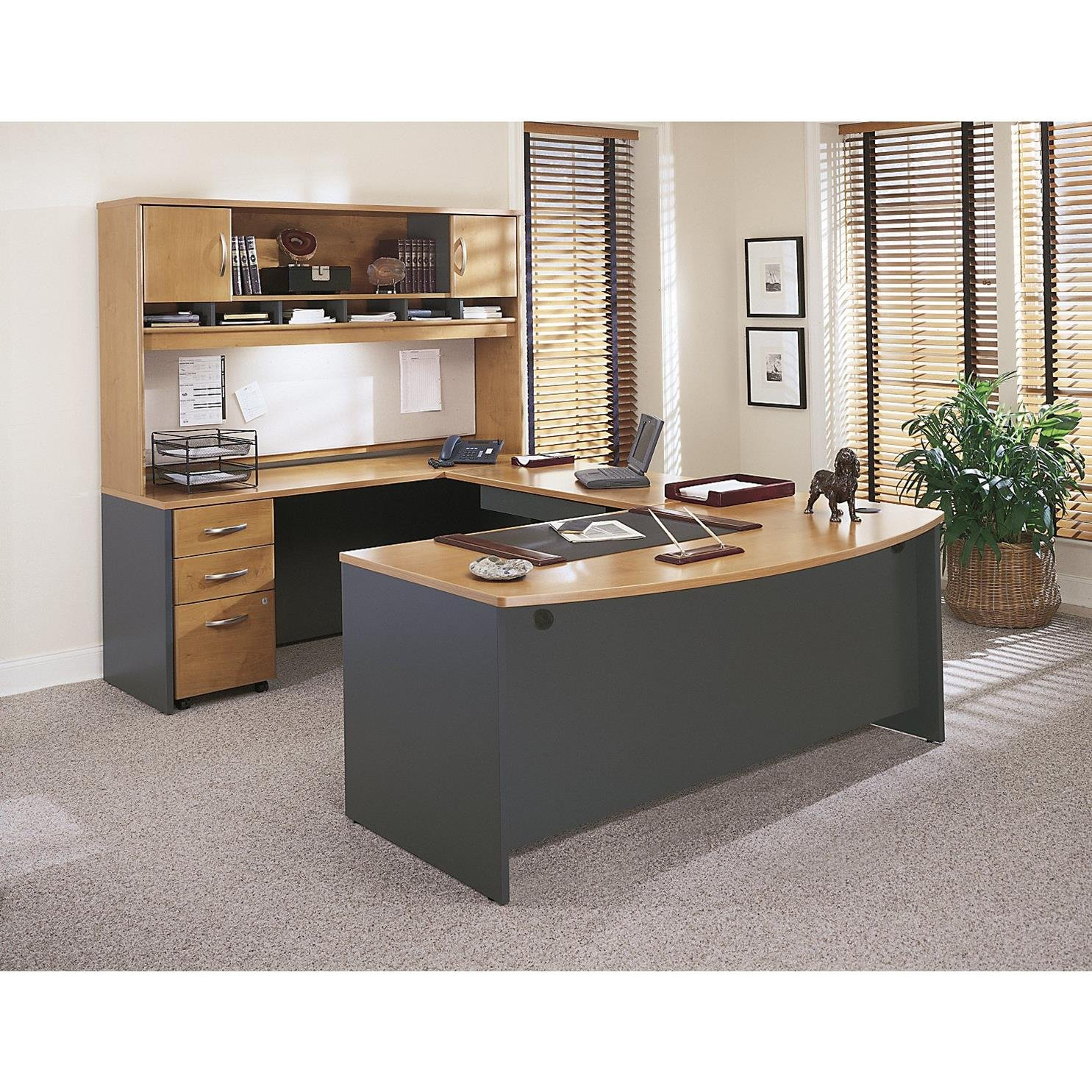 drawer com dining file amazon office natural business cherry mobile bush series in dp c furniture kitchen cabinet