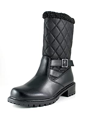 Aquatherm by Santana Canada Women's Whittaker2 Quilted Stylish Cold Weather Boot on Lug Sole Black Size 6