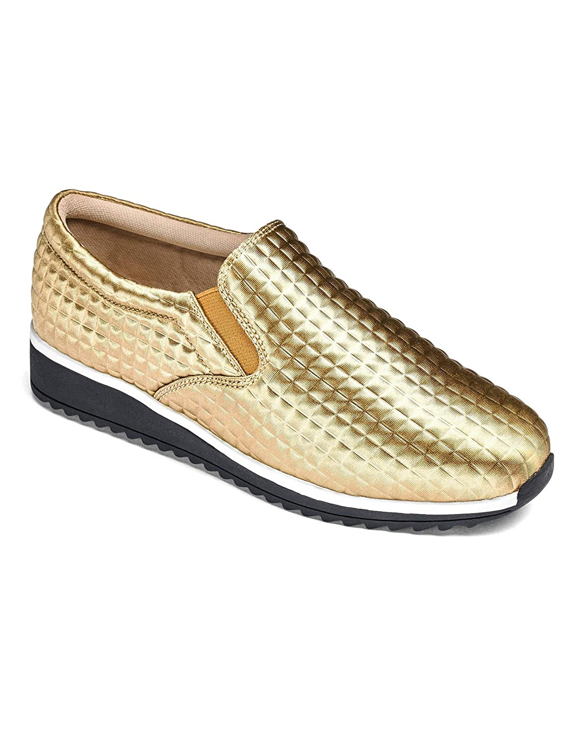 Heavenly Soles Textured Trainers Gold