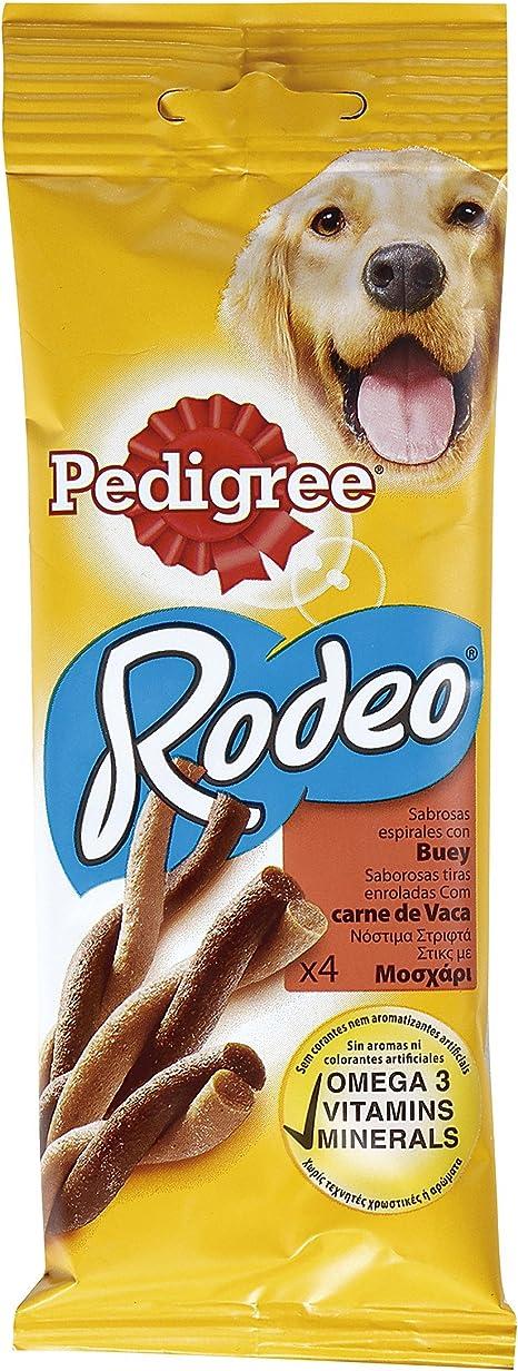 Pedigree Rodeo Buey Premios En Forma de Tiras Para Perros Para Mimar - 70 gr (20 Paquetes x 4 Premios)