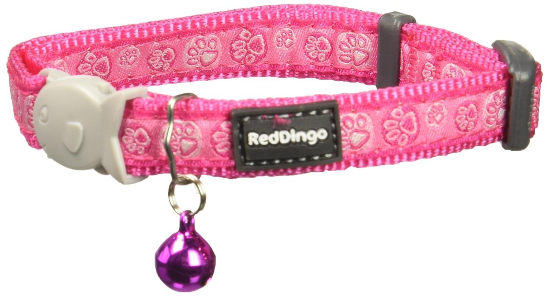Red Dingo 12 mm Paw Impresiones Gato Collar, pequeño, Rosa: Amazon ...