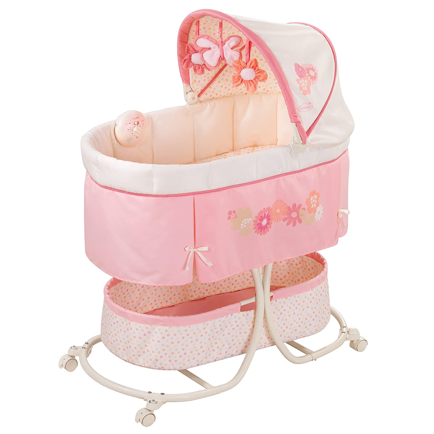 Summer Infant Soothe & Sleep Bassinet with Motion, Lila 26130