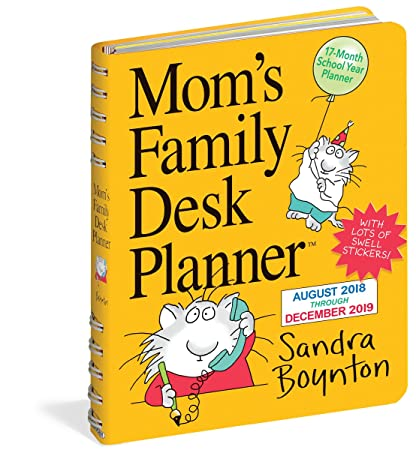 Amazon Com Mom S Family Desk Planner 2019 Weekly Engagement