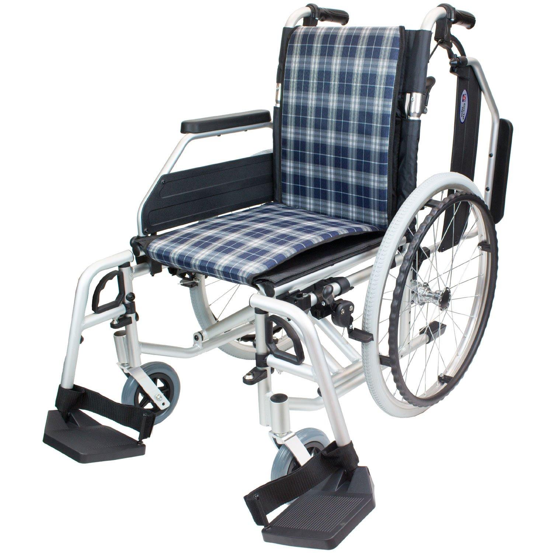 ケアテックジャパン 自走式アルミ製車椅子 CAH-52SU コンフォートプレミアム (スタンダードチェック) B01N4POKYQ スタンダードチェック スタンダードチェック