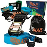 Strongest Slackline Kit with Tree Protectors + Carry Bag | Perfect Slack Lines for Kids Family Outdoor Healthy Fun | Easy Setup 50 ft Slack Line