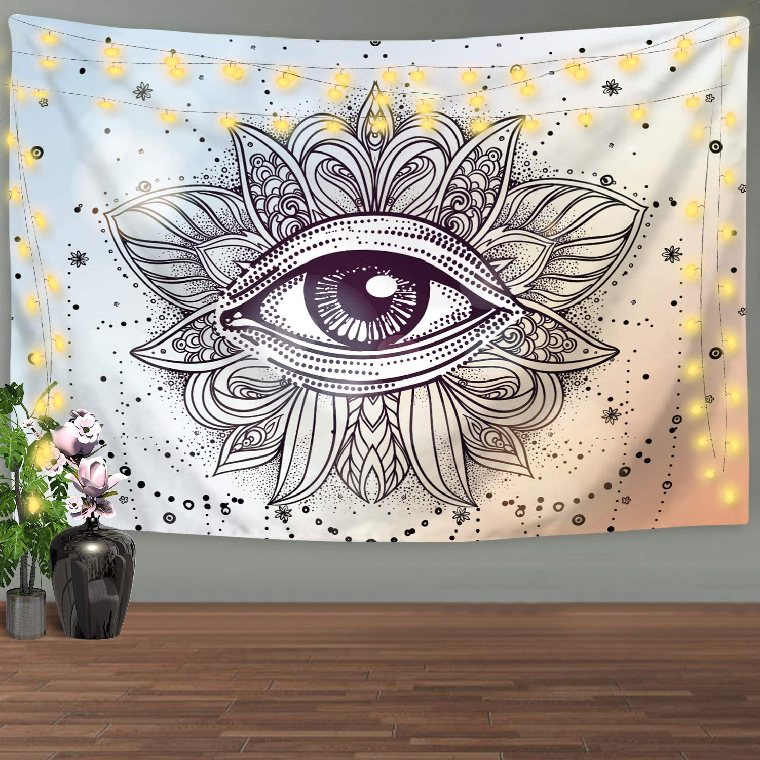 Psychedelic Eye Tapestry Wall Hanging Small to Giant Sizes Printed in the USA W.Francis American Made