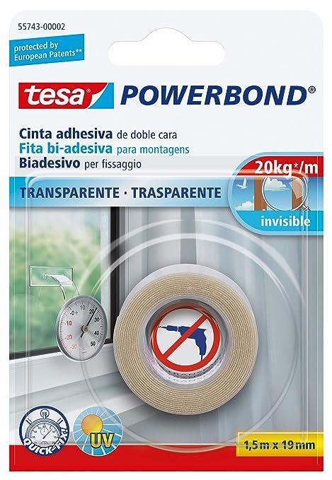 22 opinioni per Tesa 55743-00002-02 Powerbond Nastro Biadesivo Forte, 1,5m:19mm, Trasparente