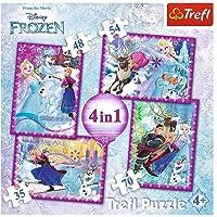 Trefl Çocuk Puzzle Frozen Winter Frenzy. Disney 35+48+54+70 Parça 4 in 1 Puzzle