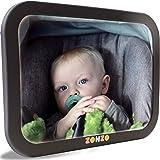 Espejo de coche de bebé para asiento trasero | Vista trasera del bebé en el asiento trasero | Fijación segura con doble corre