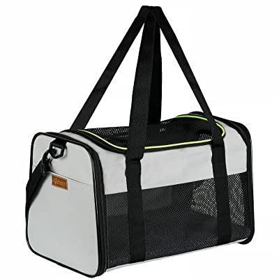 Akinerri Airline Approved Pet Carriers,Soft Sided Collapsible Pet Travel Carrier