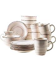 Domestic by Mäser Serie del Tempo –Set de Desayuno, 18Piezas, para 6Personas, Porcelana, 30x 40x 40cm