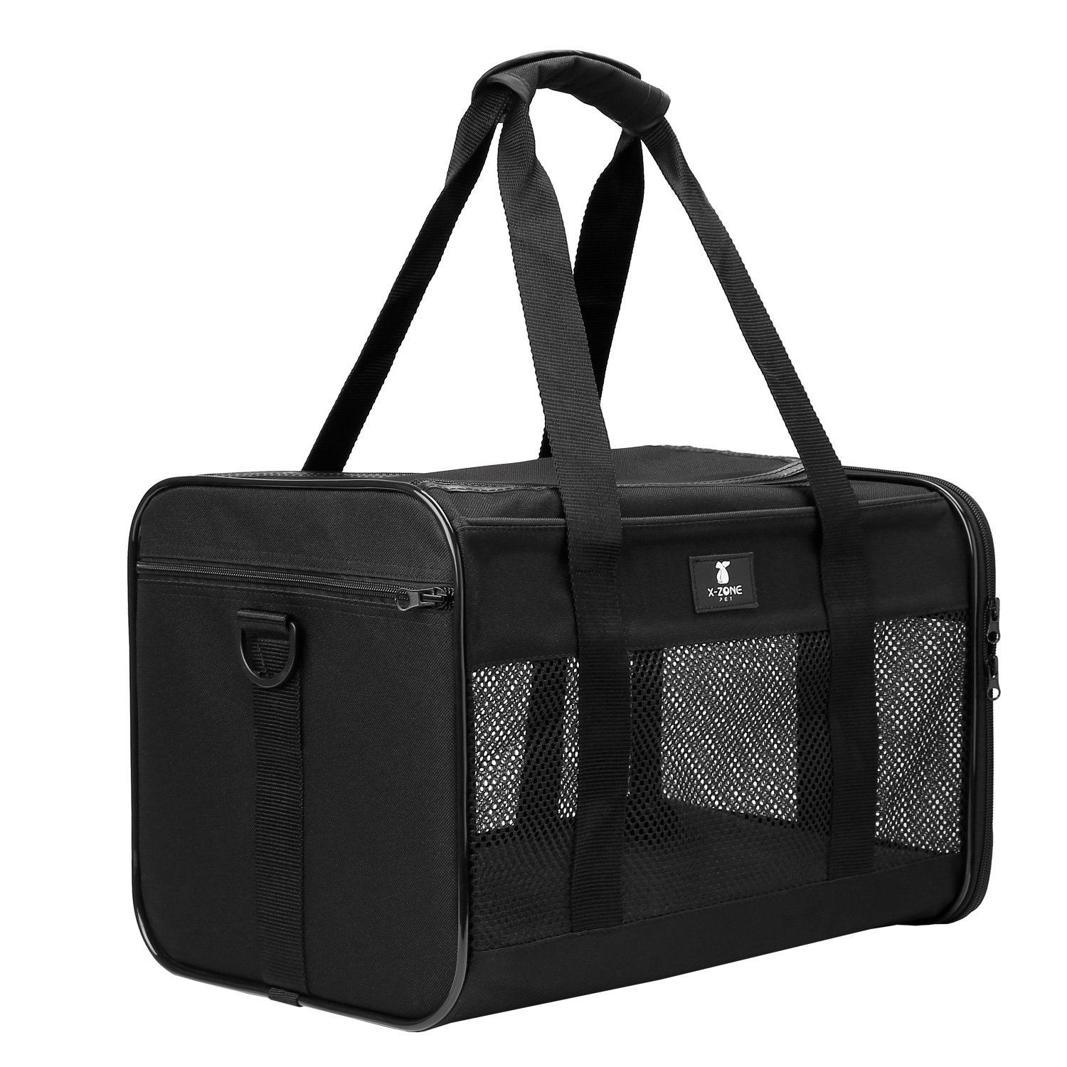 X-ZONE PET Airline Approved Soft-Sided Pet Travel Carrier for Dogs and Cats, Black by X-ZONE PET