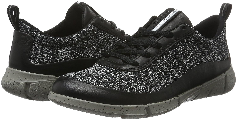 ECCO Women's Intrinsic Knit Fashion Sneaker B01A1JO3VQ 35 EU/4-4.5 M US|Black/Concrete