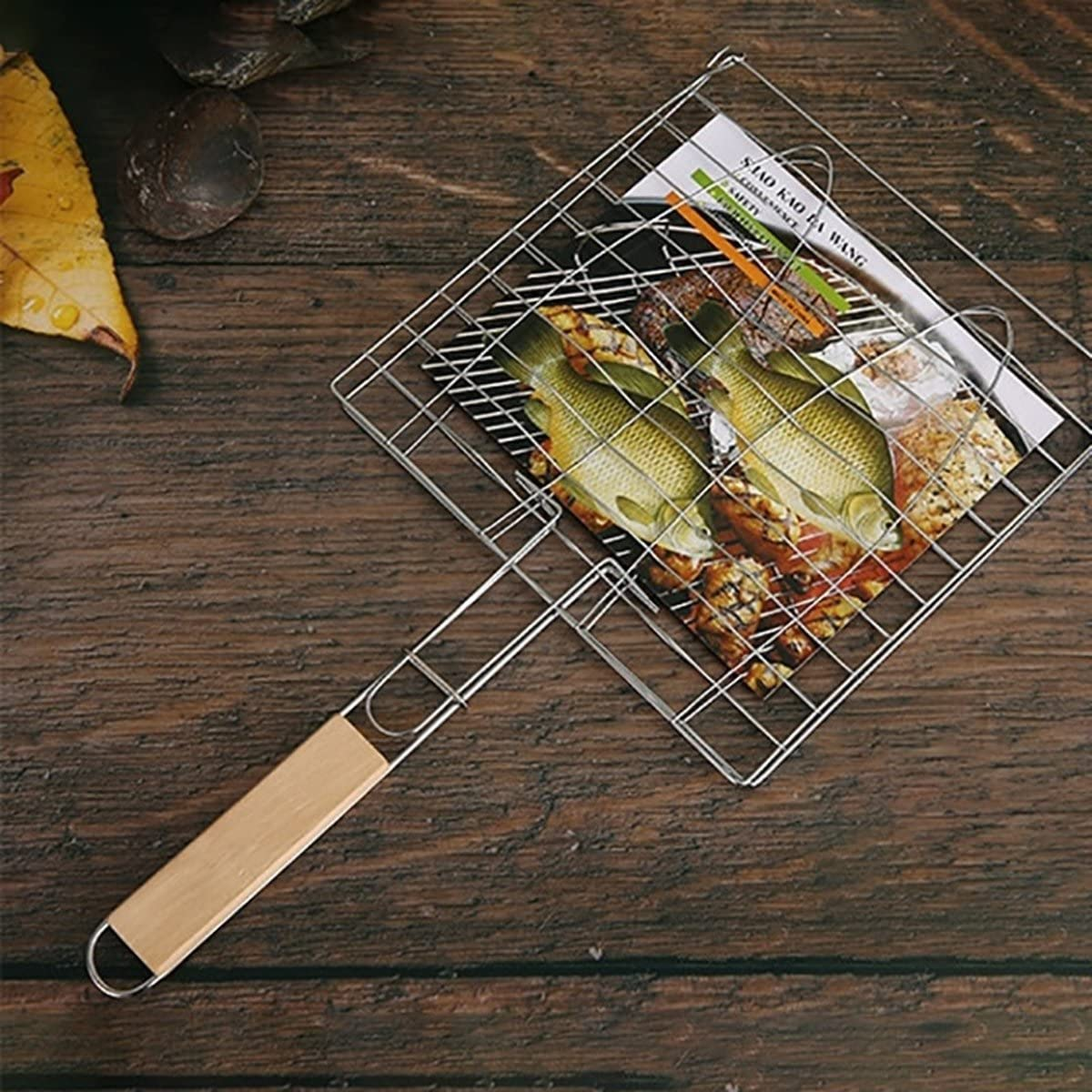 Mochiglory Outdoor Portable Multi-Purpose Harmless Healthy Barbecue Grill Net Clip Tools Insert Handle Party Supplies