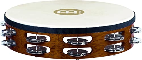 Meinl Percussion TAH2AB Traditional 10-Inch Wood Tambourine