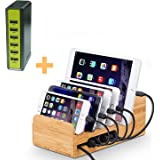 Lottogo USB Charging Station 6-port 30W Fast Charging Dock & Organizer With Smart IC for iPhone iPad Sumsung PS4 Kindle and Other USB Devices