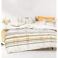 Charlotte Duvet Quilt Doona Cover - Pure Cotton Duvet Cover Set (Double)