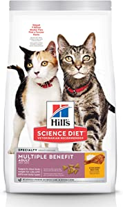 Hill's Science Diet Dry Cat Food, Adult, Multiple Benefit, Chicken Recipe