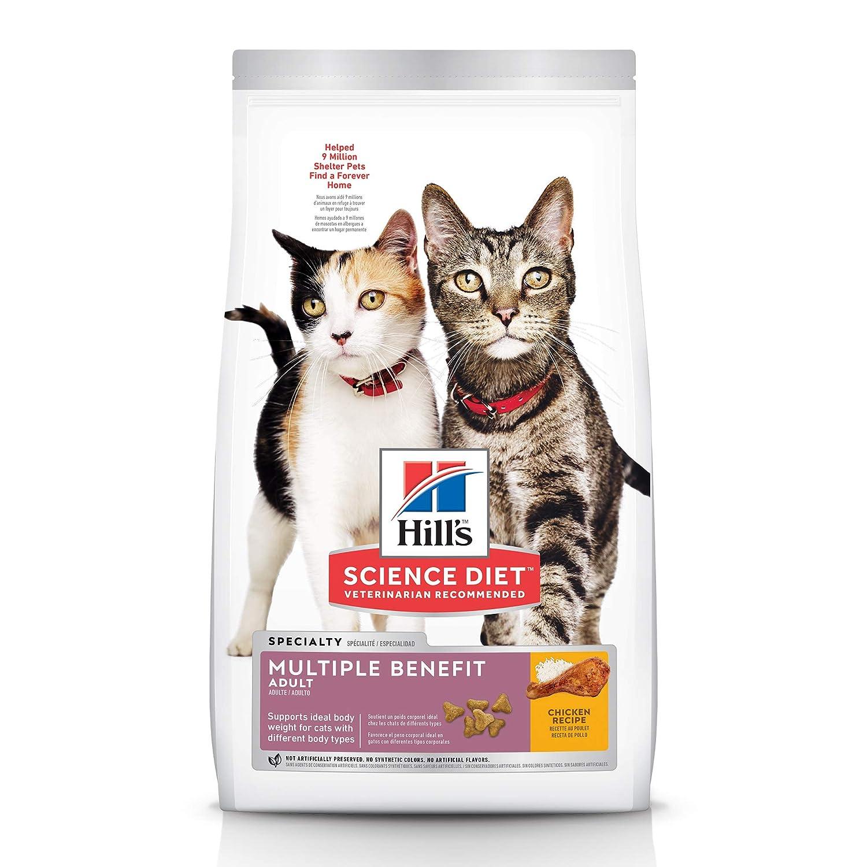 Hills Science Diet Dry Cat Food, Adult, Multiple Benefit, Chicken Recipe