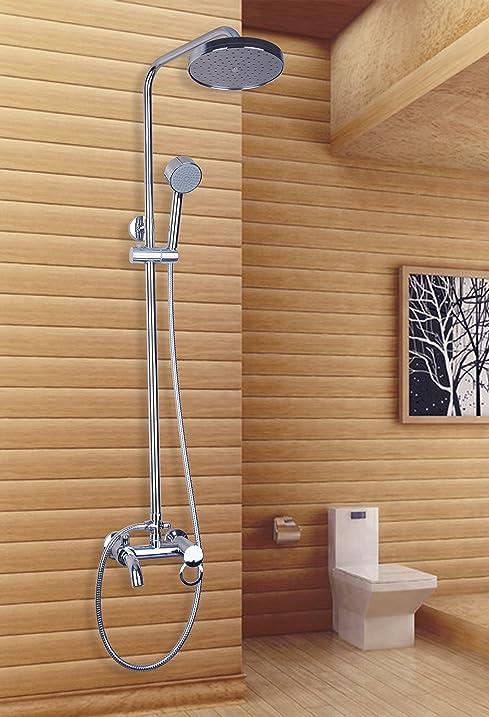 Yanksmart Bathroom Wall Mount Tub Faucet with 8 Inch Rainfall ...