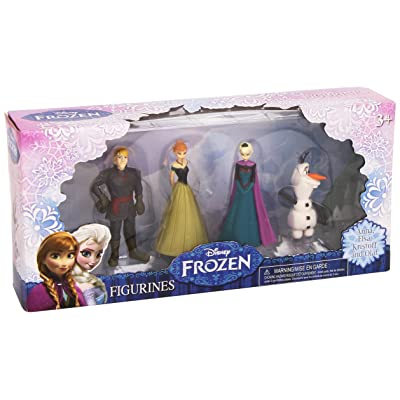 Beverly Hills Teddy Bear Company Frozen Olaf, Anna, Elsa, Kristoff Figure (4-Pack): Toys & Games
