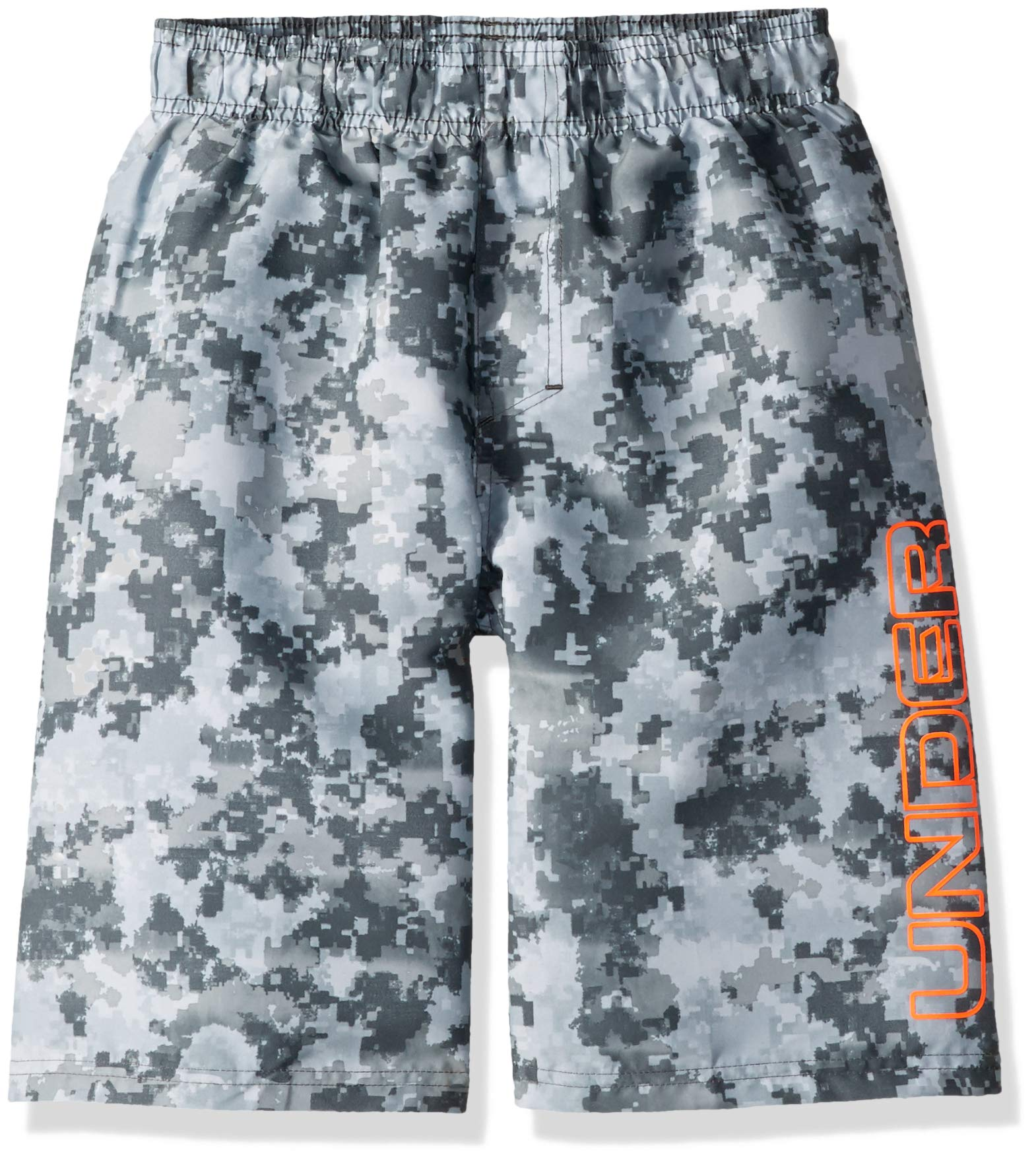 Under Armour Big Boys' Volley Fashion Swim Trunk, Moderate Gray-S19, YSM