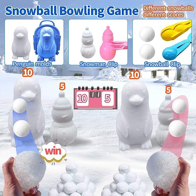 ZHUANMONI Outdoor Sports Snow Brick Mold-Snowball Clip Ball Maker Snow Mold Tool-Winter Snow Fort Childrens Snowball Fight Toy-Kids Snow Castle Summer Sand Box Beach Castle