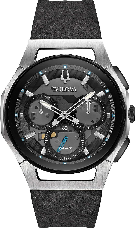 Bulova Reloj Cronógrafo para Hombre de Cuarzo con Correa en Caucho 98A161
